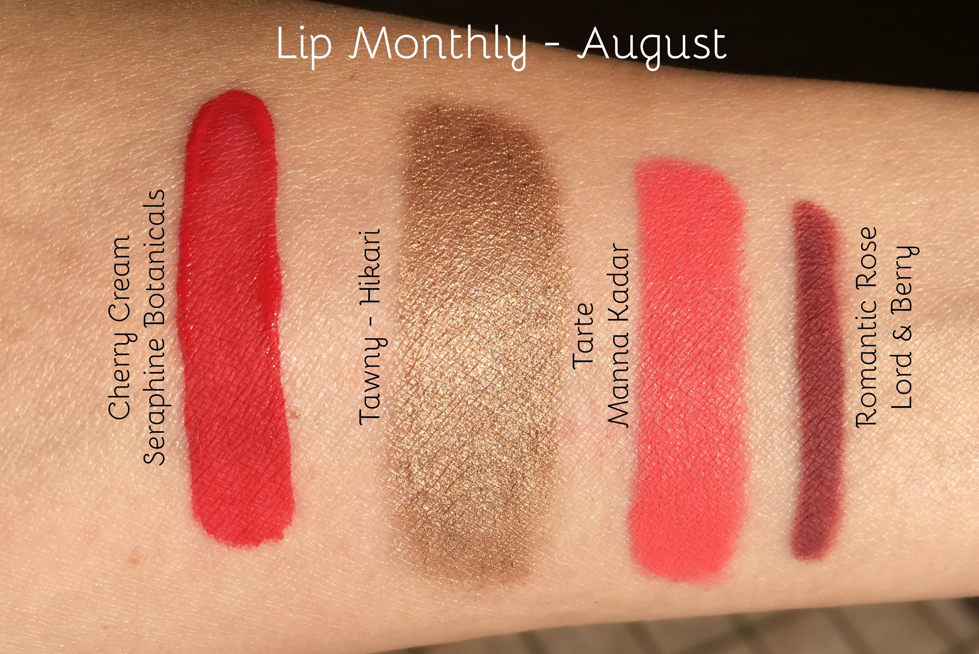 Swatches Lip Monthly