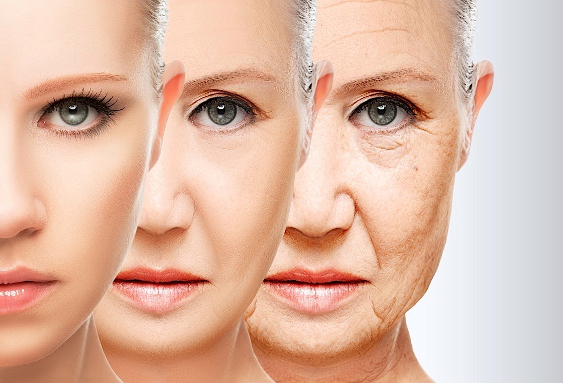 Beauty Concept Skin Aging. Anti-aging Procedures, Rejuvenation, Lifting, Tightening Of Facial Skin